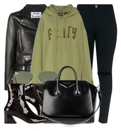 """Gratz"" by monmondefou ❤ liked on Polyvore featuring Acne Studios, Puma, Ray-Ban, Givenchy, Dorateymur, black and GREEN"