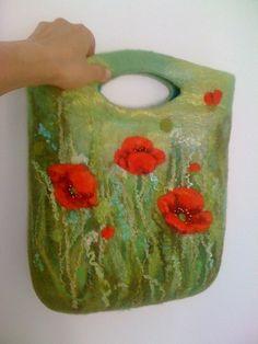 Felted Floral Bag