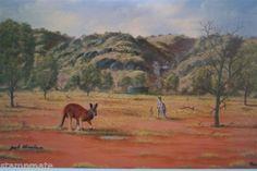 Jack Absolom - SIGNED PRINT THE BIG RED KANGAROO - bidStart (item 56992520 in Antiques & Art... Prints)
