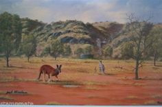 Jack Absolom - SIGNED PRINT THE BIG RED KANGAROO - bidStart (item 56992520 in Antiques & Art... Prints)