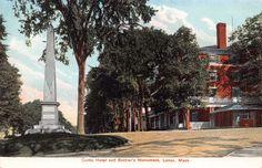 LENOX MASSACHUSETTS CURTIS HOTEL~REVOLUTIONARY SOLDIERS MONUMENT POSTCARD 1910s