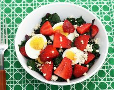 Coconut & Lime: recipes by Rachel Rappaport: Strawberry Beet Green Salad with a Strawberry-Fennel Pollen Vinaigrette