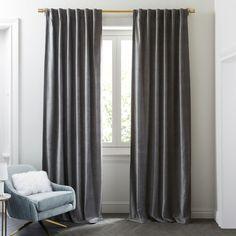 Worn Velvet Curtain - Metal