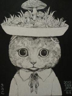ヒグチユウコ画 2012 きのこ展出品 - Higuchi Yuko