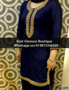 Lavish Navy Blue Embroidered Salwar Suit Product Code : Reet_s234 To order, call/whats app on +919872336509 We offer huge variety of Punjabi Suits, Anarkali Suits, Lehenga Choli, Bridal Suits,Sari, Gowns,etc.We Can also Design any Suit of your Own Design and any Color Combination.