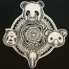 Animals in mandala