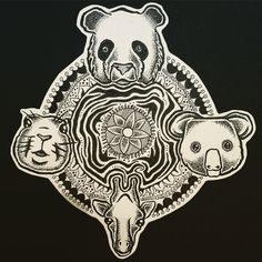 Animals in mandala