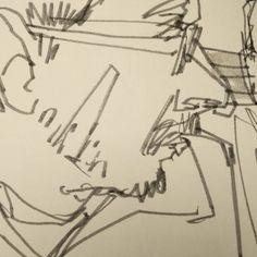 Bar #sketch in my new hand-crafted #sketchbook. #urbansketchers #sketchcrawl #portrait #drawing #quicksketch #Strasbourg