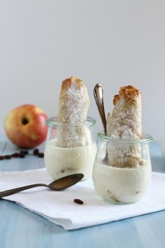 de Recipe, Apple Strudel Roll with Vanilla Sauce 1 haseimglueck.de Recipe, Apple Strudel Roll with Vanilla Sauce 1 Mini Desserts, Fall Desserts, Christmas Desserts, Baking Recipes, Cake Recipes, Dessert Recipes, Apple Recipes Dinner, Vanilla Sauce, Apple Strudel
