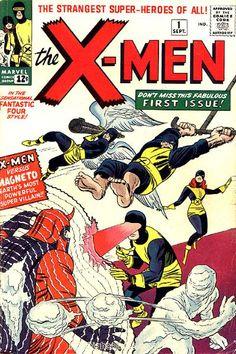X-Men vs Magneto on The X-Men 1 by Jack Kirby