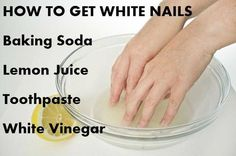 How to Get Nails Clean and White Comment obtenir des ongles propres et blancs Clean Nails, Get Nails, Hair And Nails, How To Whiten Nails, Whiter Nails, Easy Nails, Nail Care Tips, Nail Tips, Nail Hacks