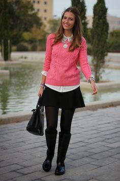 fashion_blogger_blog_style_moda_tendencia_it_girl_falda_zara_rosa_sheinside_botas_agua_outfit