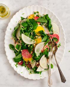 spring root & watercress salad