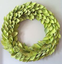 chartreuse spring wreath large 24 inch by weirdlittleworld on Etsy