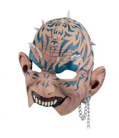 Μάσκα Punk Λάτεξ Με Αλυσίδα