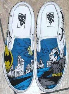 Hand painted,  ~Batman tho ! Van's
