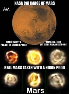 """Like all the other """"planets"""", Mars is a star.  The Word says God created the earth, the sun, moon and stars -- nowhere in scripture does it say He created other planets, but it does say that WE are the center of His creation."""