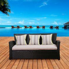 International Home Miami Atlantic Biscayne Sofa with Cushions