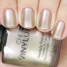 CND VINYLUX Grand Gala | Holiday 2014 Gilded Dreams Collection | Peachy Polish