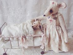 Mouse nurse and mouse patient..................Where nostalgia and romance meet ...