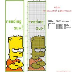 Segnalibro punto croce simpatico con Bart Simpson 32 x 120 crocette - 1500x1500 - 630199