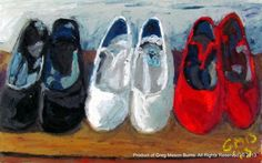 Zapatos de Flamenco Oil Pastel on Glass (2013) 22 x 32.5 cm www.gregmasonburn... Prints - fineartamerica.co...