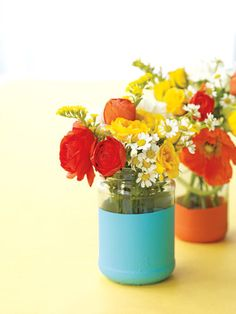 paint-dipped vase