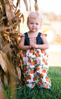 fe8cf58fd4eb Your little one will be as cute as a pumpkin in this sweet romper!