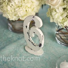 Our vow renewal won't be this formal, but I can think of a million ways to use these adorable numbers!