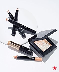 Reveal gorgeous, glowing skin with a little help from Bobbi Brown. First, apply the skin foundation stick over your face for a true-to-skin base. Then, touch up blemishes or discolorations with the retouching face pencil or wand. Finish with the perfect touch of shimmer from the cult favorite highlighting powder. Shop all your Bobbi Brown essentials at Macy's.