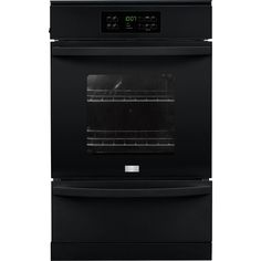 """Frigidaire - 24"""" Built-in Single Gas Wall Oven - Black"""