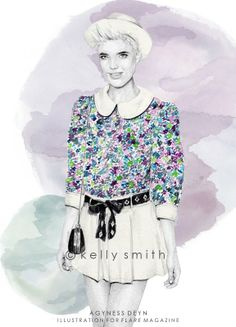 Birdy & Me : Illustrations & Musings by Kelly Smith: agyness for FLARE