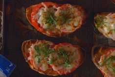 Mozzarella with fresh tomato and basil make this toast scrumptiously cheesy. Rubbing the toast with fresh garlic is a trick to remember for the future.