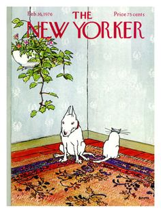 The New Yorker Cover - February 16, 1976 Premium Giclee Print by George Booth at Art.co.uk