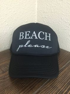 Beach Please Adult Trucker Hat Hat Quotes b8150642f8ed