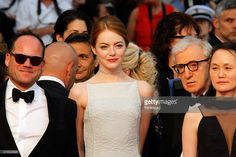 Actress Emma Stone, Director Woody Allen and his wife Soon-Yi Previn attend the 'Irrational Man' premiere during the 68th annual Cannes Film Festival on May 15, 2015 in Cannes, France.
