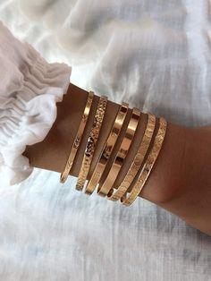 Gold Bangle Bracelet, Bangle Set, Metal Bracelets, Gold Bangles, Bracelet Set, Gold Jewelry, Jewelry Accessories, Gold Bracelet For Women, Jewellery Earrings