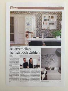 Helsinki house in the Swedish paper, Hufvudstadsbladet.