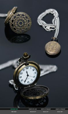 Accessories :: Necklaces :: Antique Locket Long Silver Chain-Necklace 278 - Mens Fashion Clothing For An Attractive Guy Look