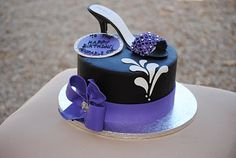 Lovely Purple with Shoe Cake