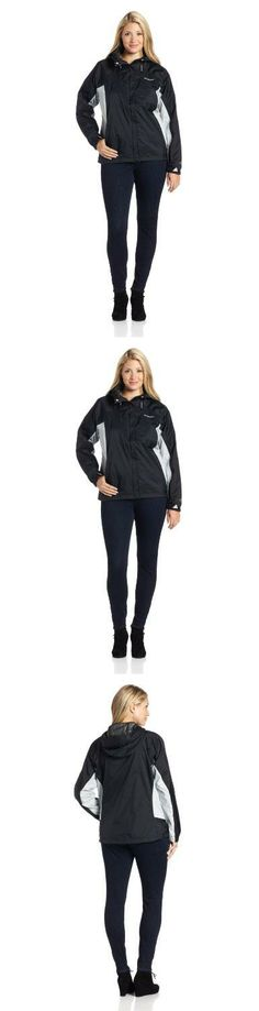 Columbia Women's Big Tested Tough In Pink Rain Jacket, Black, 1X Omni-tech waterproof/breathable fully seam sealed. Attached, adjustable storm hood. Drawcord at hem.  #Columbia #Apparel