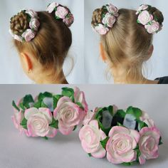 Baby Hairstyles Ideas – Baby and Toddler Clothing and Accesories Mixed Kids Hairstyles, Diy Hairstyles, Felt Flowers, Fabric Flowers, Ballerina Hair, Flower Hair Accessories, Hair Decorations, Diy Hair Bows, Diy Headband