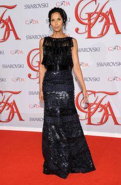 CFDA Awards 2012: An Award-Packed Night With Fashion's Glitterati always gorgeous Padma Lakshmi   #Hair #Style #Fashion #Trend #CFDA #PadmaLakshmi