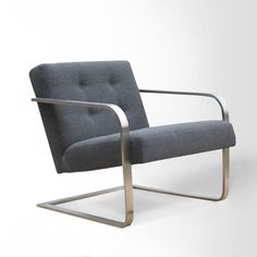 Steel-Armed Bend Chair in Charcoal from WestElm