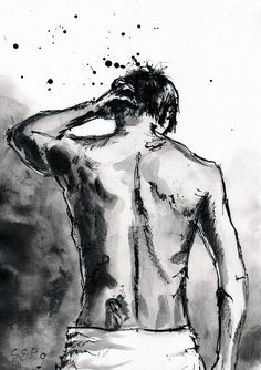 PRINT – Male nude figure sketch art print, select size, can… Male Figure Drawing, Figure Sketching, Pencil Art Drawings, Art Drawings Sketches, Drawings Of Men, Man Sketch, Sketch Art, Ship Sketch, Painting & Drawing