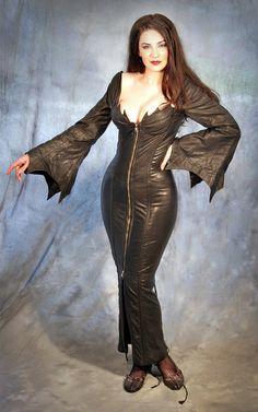 #etsy #gothic #hobbleskirt #dress #batsleeves fucking bdsm elvira dress fashion