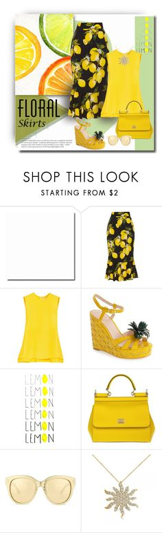"""""""Sour Grapes - Nope - Lemons"""" by michelletheaflack ❤ liked on Polyvore featuring Dolce&Gabbana, Roksanda, Kate Spade, Linda Farrow, Allurez, Floralskirts and polyvorecontests"""