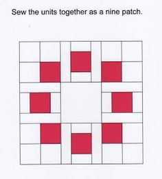"Circle of Squares Block Information for a 12 1/2"" block that can be quickly pieced and easily varied."