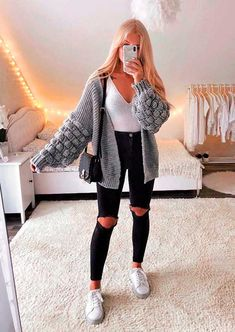Trendy Fall Outfits, Casual School Outfits, Teenage Outfits, Winter Fashion Outfits, Retro Outfits, Girly Outfits, Cute Casual Outfits, Stylish Outfits, Basic Outfits