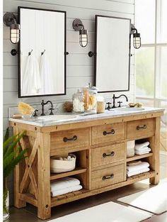 Image result for industrial bathroom vanity